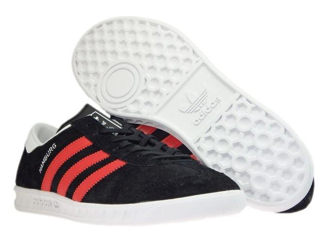 adidas hamburgs black and white