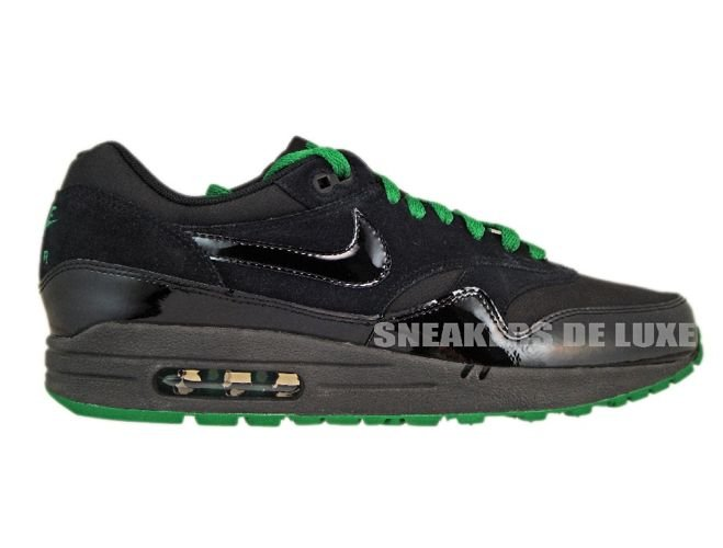 nike air max 1 green black