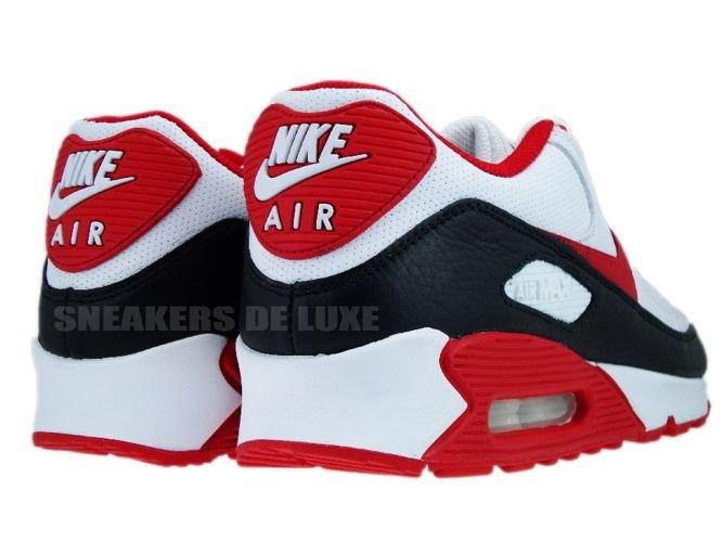nike air max 90 white sport red black