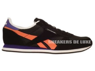M46196 Reebok Royal CL Jogger BlackCoral/Violet/White